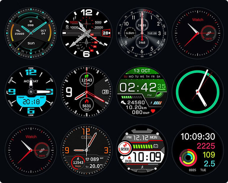 Gx Smartwatch Digital faces